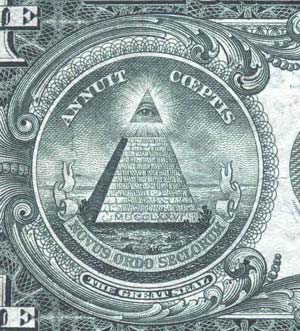 pyramide billet d'un dollar US