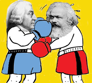 capitalism karl marx vs adam smith What did karl marx think about the invisible hand theory of adam smith what are some of the similarities and differences between adam smith's and karl marx's economic theories how did karl marx and adam smith's perspectives differ.