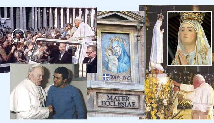Montage d'images Jean-Paul II