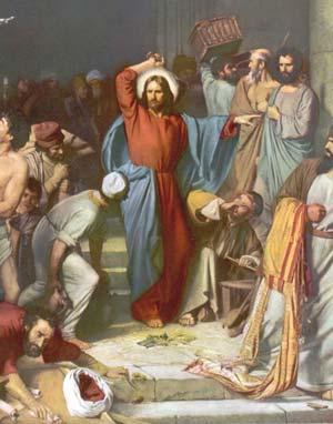 Jésus chasse les changeurs d'argent