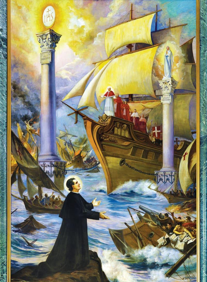 Deux colonnes de salut: L'Eucharistie et l'Immaculée