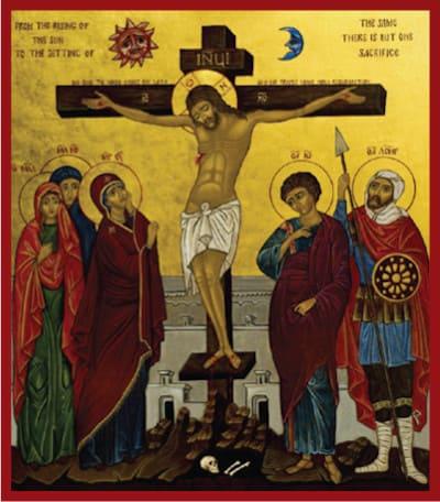Jésus est crucifié et meurt sur la Croix